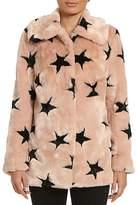 Avec Les Filles Star Faux Fur Coat