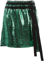 No.21 pleated sequin skirt