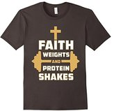 Faith Weights And Protein Shakes Christian Bodybuilder Shirt