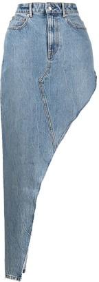 Alexander Wang Long Asymmetric Denim Skirt