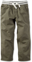 Carter's Little Boys' Olive Utility Pants