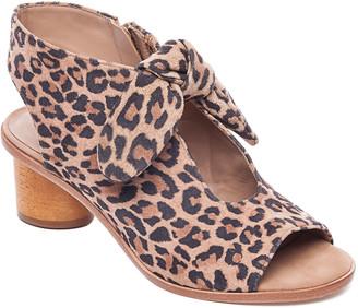 Bernardo Luna Leopard Open-Toe Knotted Booties