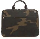 Jack Spade Men's Waterproof Waxed Cotton Briefcase - Green
