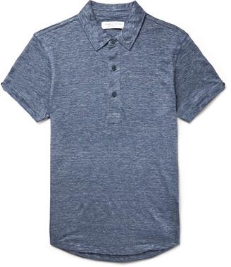 Orlebar Brown Sebastian Slim-Fit Slub Linen Polo Shirt