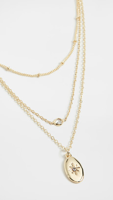 Jules Smith Designs Dainty Layered Charm Oval Necklace