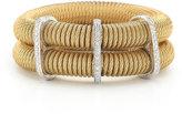 Alor Classique Double-Row Spring Coil Cable & Diamond Bracelet, Yellow