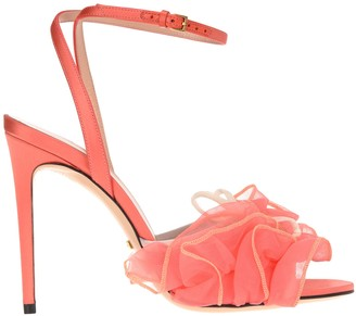 Gucci Ruffled Bow Detail Sandals