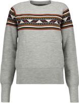 Isabel Marant Blake intarsia-knit wool-blend sweater