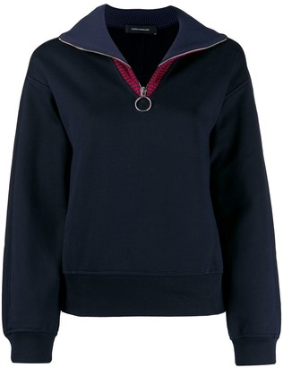 Cédric Charlier Striped Funnel Neck Sweatshirt