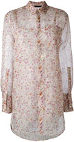 Calvin Klein Collection sheer floral shirt - women - Silk - 38