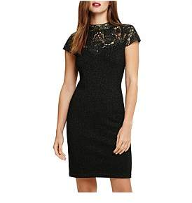 Phase Eight Ursula Lace Shimmer Knit Dress
