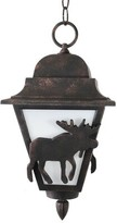Penfield 1-Light Outdoor Hanging Lantern Alcott Hill Finish: Architectural Bronze