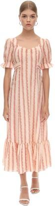 Rixo Ruffled Cotton Dress