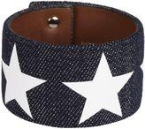 Givenchy Star Sleeve Denim Bracelet