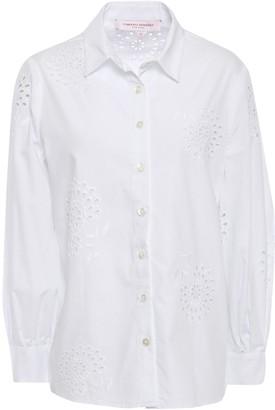 Carolina Herrera Broderie Anglaise Cotton-poplin Shirt