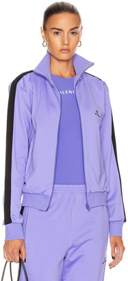 Balenciaga Zip Up Jacket in Lilac & Black | FWRD