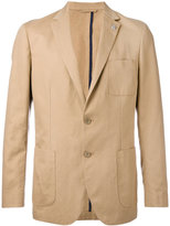 Michael Kors patch pocket blazer - men - Cotton/Linen/Flax - 40