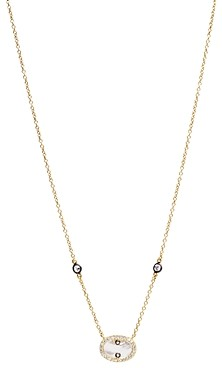 Freida Rothman Color Theory Pave Oval Stone Pendant Necklace, 16