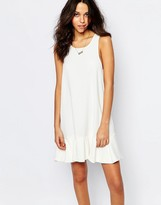 BA&SH Desir Drop Waist Dress with Frill Hem