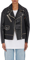 MM6 MAISON MARGIELA WOMEN'S RAW-SEAM LEATHER BIKER JACKET