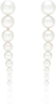 Sophie Bille Brahe Sienna 14kt gold pearl earrings
