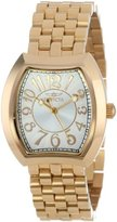 Invicta Women's 15039 Angel Silver Dial 18k Gold Ion-Plated Stainless Steel Watch
