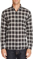 Billy Reid John Plaid Slim Fit Button Front Shirt