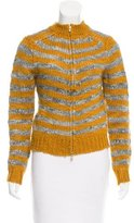 By Malene Birger Striped Zip-Up Cardigan