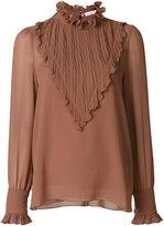 See by Chloe ruffled yoke blouse