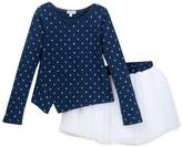 Splendid Star Top & Tutu Skirt 2-Piece Set (Little Girls)