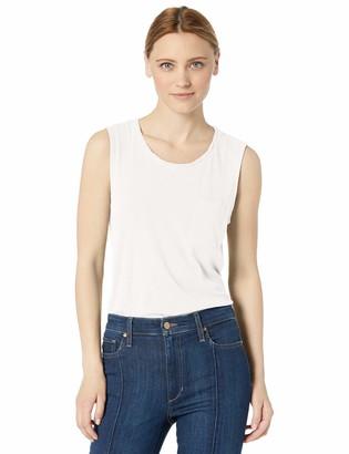 Splendid Women's 100% Cotton Sleeveless Scoop Neck Muscle Tank with Pocket