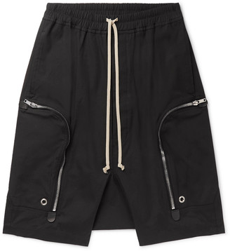 Rick Owens Basket Cotton-Blend Drawstring Shorts
