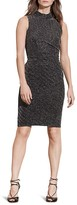 Lauren Ralph Lauren Petites Metallic Mock Neck Dress
