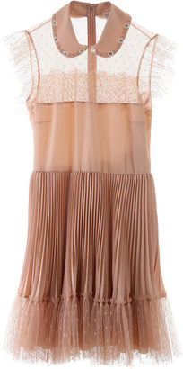 RED Valentino MINI DRESS WITH TULLE 42 Pink