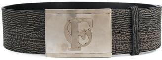 Gianfranco Ferré Pre Owned 1990s Logo Embossed Buckle Belt