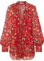 Erdem Rosabel Pussy-bow Floral-print Silk-chiffon Blouse - UK14