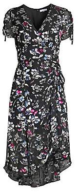 Parker Women's Floral Ruched Short-Sleeve Midi Dress