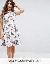 Asos TALL Twist Front Floral Dress