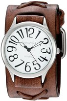 Nemesis Women's 'Always Summer Series' Quartz Stainless Steel and Leather Automatic Watch, Color:Brown (Model: DSFX108W)