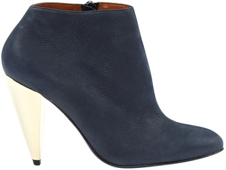 Lanvin Navy Suede Ankle boots