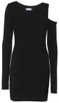 Amiri Ribbed cotton and cashmere dress
