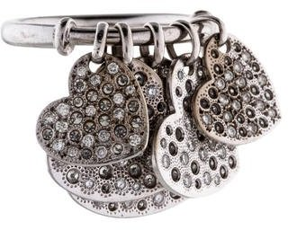 Christian Dior 18K Diamond Heart Dangle Ring