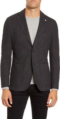 Lubiam Trim Fit Herringbone Wool & Cotton Sport Coat