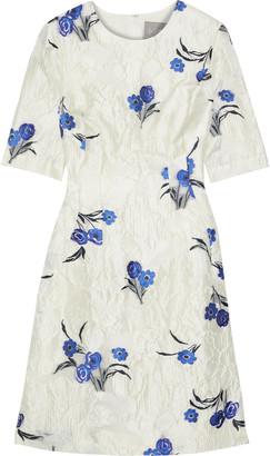 Lela Rose Fil Coupe Cloque-jacquard Dress