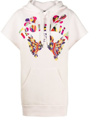 Isabel Marant Short Sleeve Embroidered Hoodie