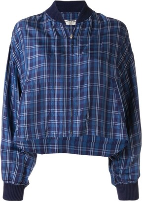 Comme Des Garçons Pre Owned checked Wind bomber jacket