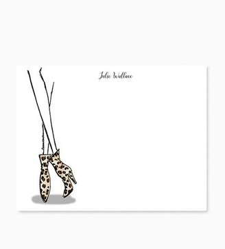 Eighty Seventh St Personalized Notecards Leopard Boots