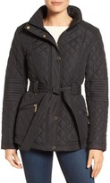 Gallery Women's Belted Quilted Jacket