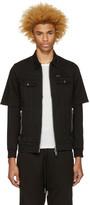 Diesel Black Denim Layered Hober Jacket