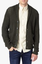 7 For All Mankind Shawl Cardigan In Olive